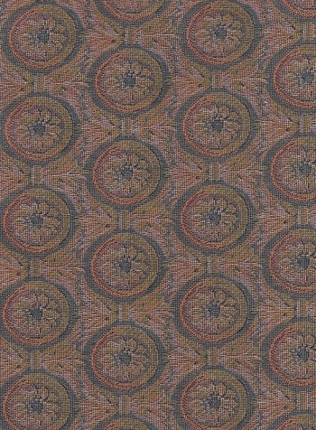 Pink Green Ivory Floral Upholstery Fabric