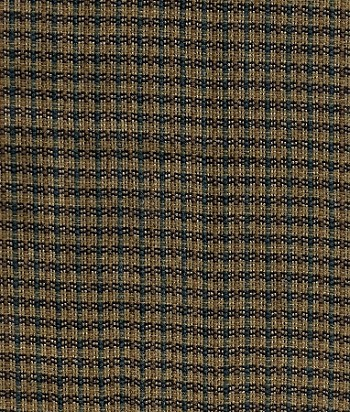 Brown Tan Small Check Upholstery Fabric