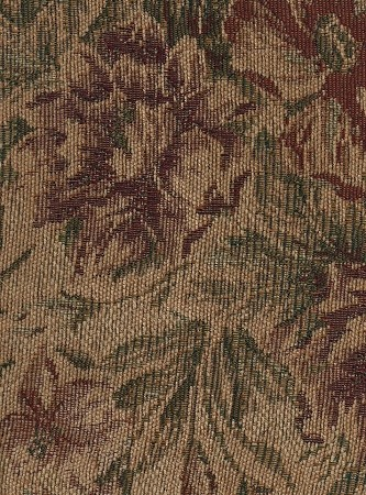 Dorance Sienna Cream Floral Chenille Upholstery Fabric