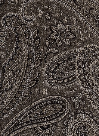 Desmond Pewter Brown Gold Paisley Pattern Upholstery Fabric