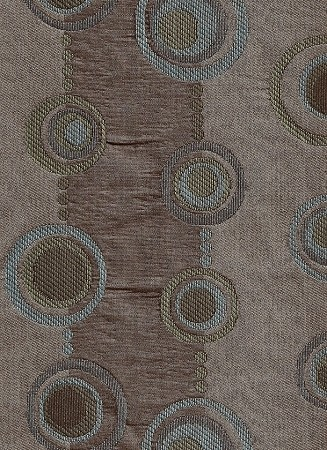 Circa Modern Circles Teal Tan Turquoise Upholstery Fabric