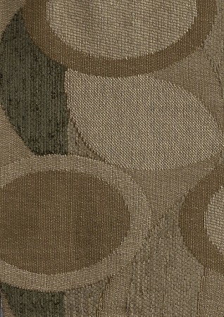 Modern Retro Wave Circles Upholstery Fabric Tan
