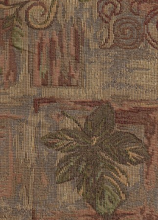 Valor Copper Red Tan Green  Upholstery Fabric
