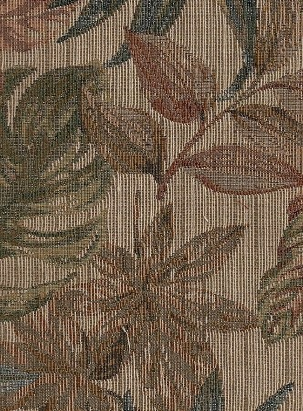 1.7 yards Fall Foliage  Green Brown Teal Upholstery Fabric