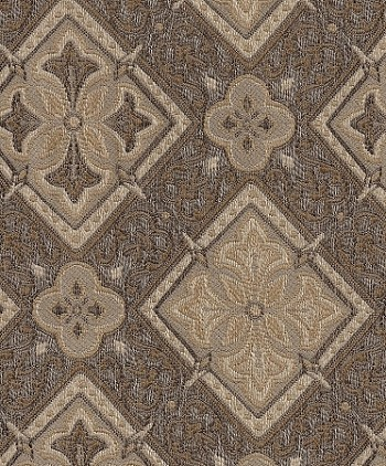 Essential Granola Gold Brown Diamond Pattern Upholstery Fabric