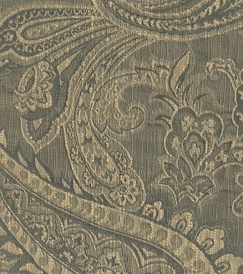 Sacre Cue New Blue White Paisley Upholstery Fabric
