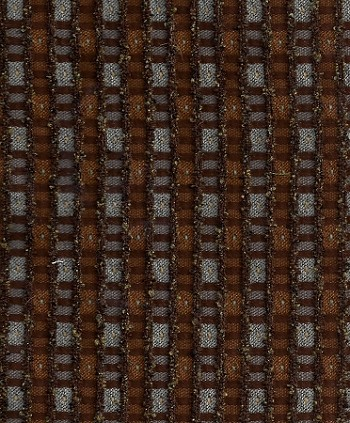 Aisley Chocolate Brown Blue Check Upholstery Fabric