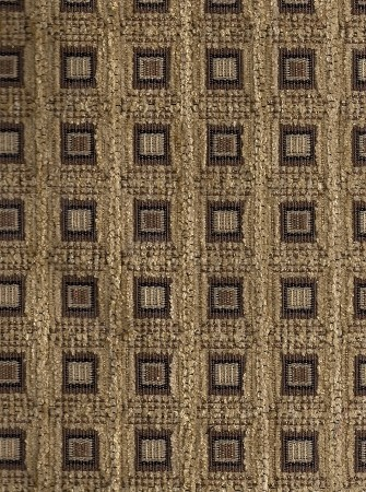 Checkered Flag Brown Gold Square Upholstery Fabric