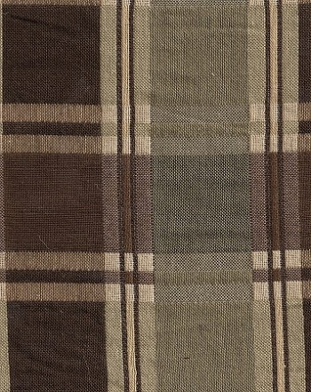Brown Gold Green Plaid Upholstery Fabric