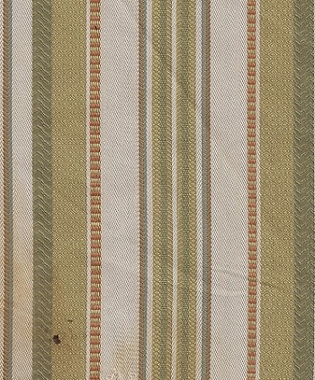 Leesa Sunburst White Tan Green Stripe Upholstery Fabric