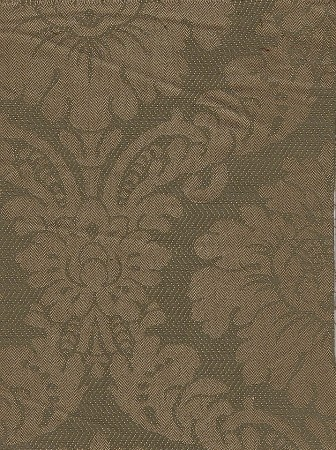 Victorian Style Green Beige Upholstery Fabric