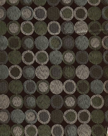 Connect Four Lagoon Modern Brown Blue Gold Circles Upholstery Fabric