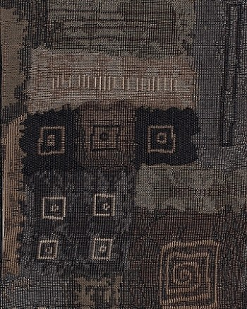 Covey Runner Blue Black Tan Upholstery Fabric