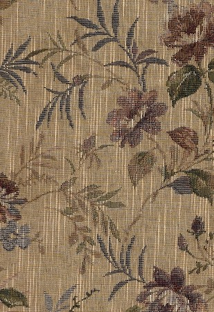 Dupione Laurel Beige Tan Floral Upholstery Fabric