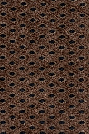 Faberge Coffee Brown Black Raised Diamond Pattern Upholstery Fabric