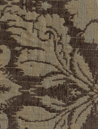 Piazza Patina Brown Gold Victorian Design Upholstery Fabric