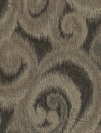 Sivan Charcoal Gray Tan Scroll Design Upholstery Fabric