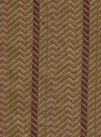 Keepsake Burnished Brown Maroon Green Stripe Upholstery Fabric