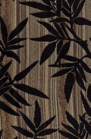 Rayburn Vintage Black Gold Leaf Upholstery Fabric