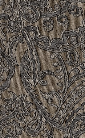 Gray Beige Paisley Pattern Upholstery Fabric
