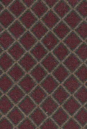 Maroon Green Gold Diamond Pattern Upholstery Fabric