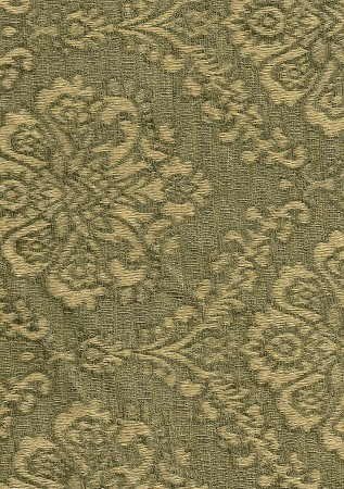 Green Gold Victorian Pattern Upholstery Fabric