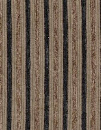 Classic Stripe Black Brown Upholstery Fabric