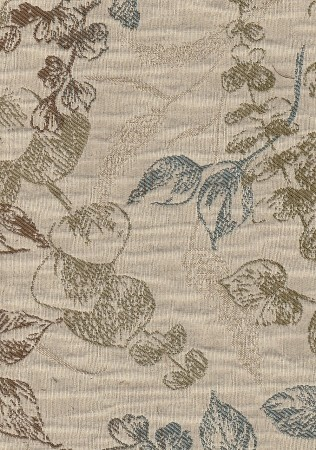 Tucker Willow Ivory Blue Upholstery Fabric